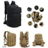 Outdoor Tactical Sports Travel Backpack - Black