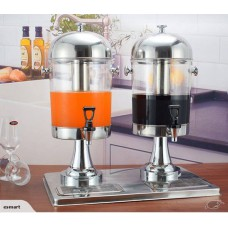 Stainless Steel Double Juice Dispenser