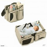 3 in 1 Diaper Tote Bag Travel Bassinet Nappy Changing Station Carrycot Baby Bed-Free shipping