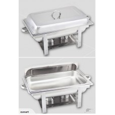 STAINLESS STEEL CHAFING DISH FOOD STEAM PAN