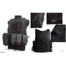Airsoft military Combat Tactical Vest-Black