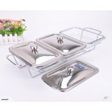 TRIPLE GLASS CHAFING DISH WARMER
