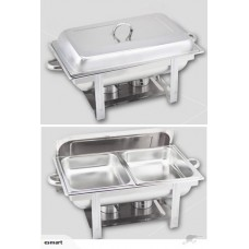 STAINLESS STEEL CHAFING DISH DOUBLE FOOD STEAM PAN