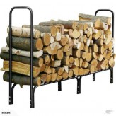 8 Ft Outdoor Indoor Firewood Log Rack-Free shjipping