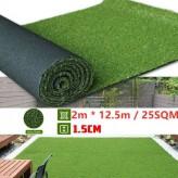 15mm Artificial Grass 2M * 12.5M / 25SQM-Free shipping