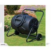 190L Garden Compost Bin With Wheels