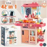 Modern 42PCS Kitchen toy set - Pink-Free shipping