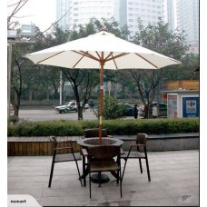 Wooden 9' Patio Market Umbrella-Free shipping
