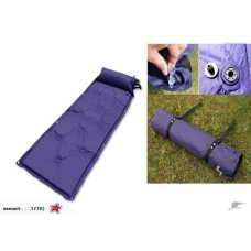 Blue Self-inflating Camping Mattresses with Pillow