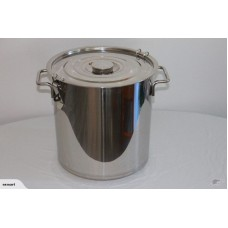 50L STAINLESS STEEL STOCK POT SAUCE With Lock