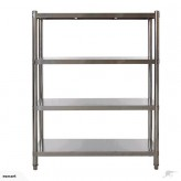 Stainless Steel 4-Shelves Storage Rack