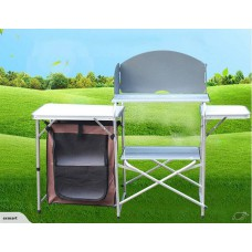 Aluminium Camping Kitchen Table with wind protection-Free shipping