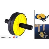 New Dual AB Wheel Exercise Roller With Free Mat